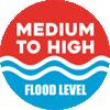 Medium to High Flood Level